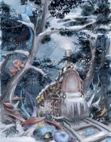 Winter Train by asiapasek