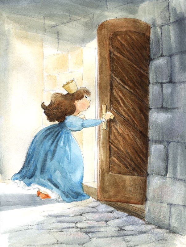 Princess Irene and Mysterious Door In a Tower by asiapasek