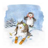 Learning to Ski by asiapasek
