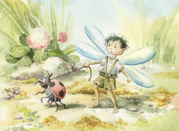 Walking a Ladybug by asiapasek