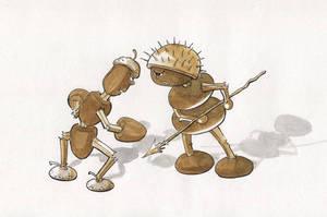 Battle, or Acorn vs Chestnut by asiapasek