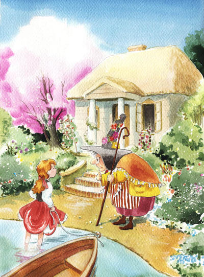 Gerda Meets a Witch by asiapasek