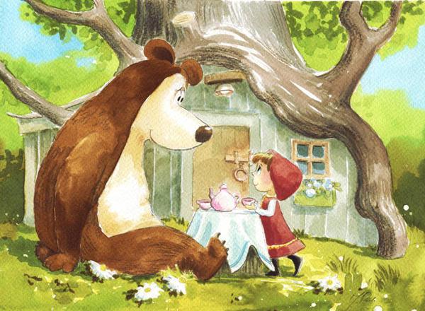 Masza and The Bear by asiapasek
