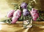 Lilac In a Glass Jar