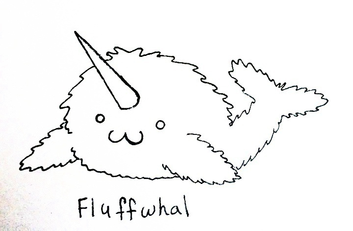 New Species: Fluffwhal!! EDIT Fluffy Sea Unicorn by UntouchedSpirit