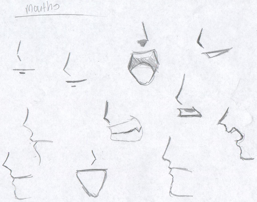 how to draw male anime mouth