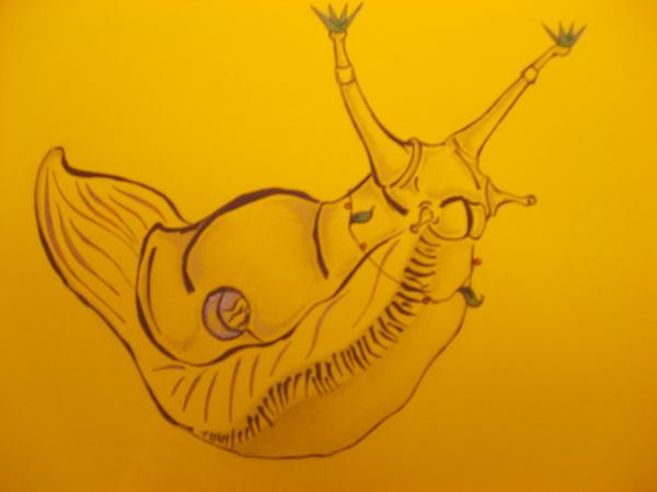 The Banana Slug King by FruitbowlMassacre on DeviantArt