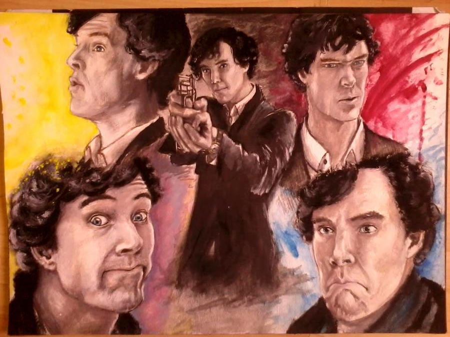 Sherlock's stupid faces :D by M-Asami-the-szilf
