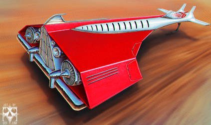 Futuristic Vintage racer by Deftonys-muse
