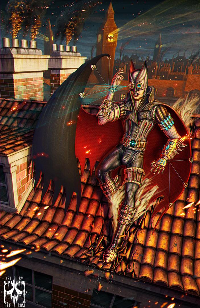 Steampunk batman by Deftonys-muse