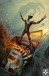 Wolverine VS. Sentinel by Deftonys-muse