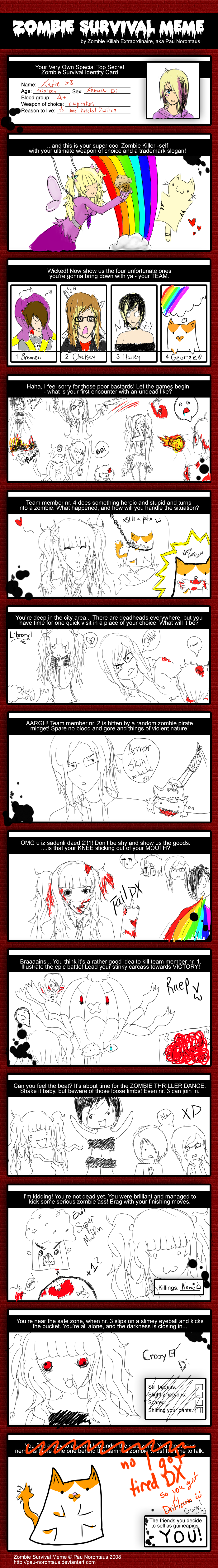 Zombie Survival Meme by Near-X-Rukia