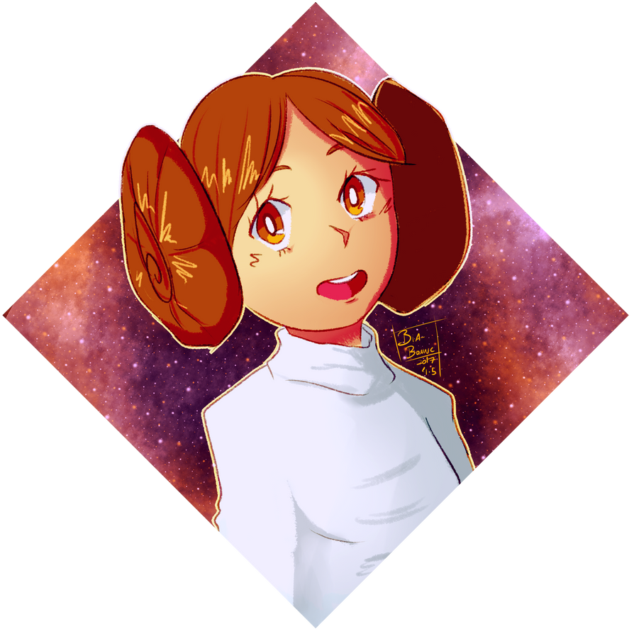 Daily Doodles day 004: Princess Leia by Bia-Bonne