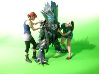 Working on the Crabcat Kaiju