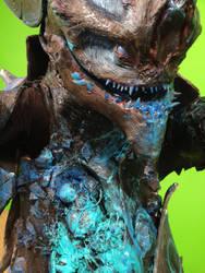 Close Up of Damaged Crabcat Kaiju