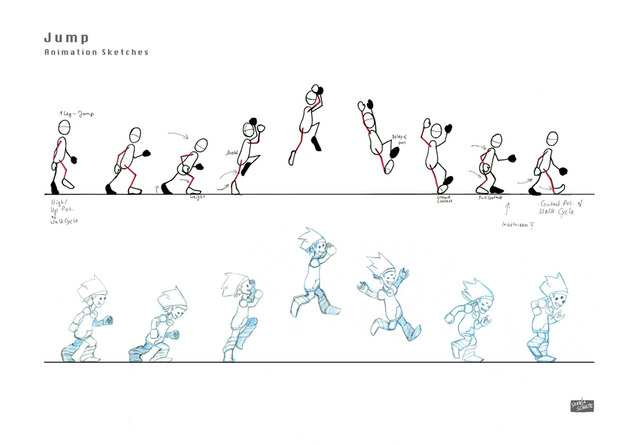Monster Grrrrl: Animation Sketches Jump by GwenStacy