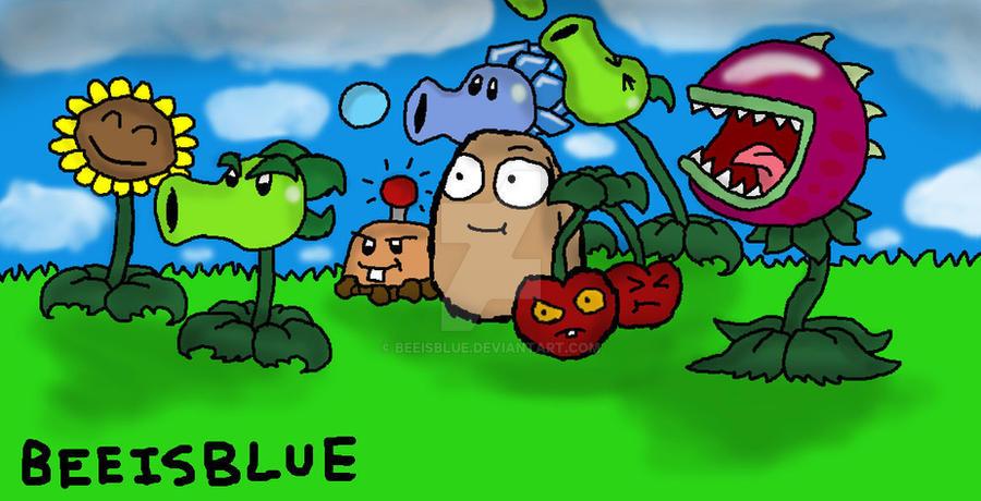 plants vs zombies fanart 1 by beeisblue on deviantart