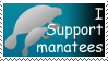 I support manatees by manatails007