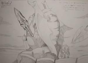 Ridley and Samus (From Metroid Manga)