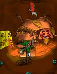 Little brother art: Link vs. Gohma by Ziggyfin