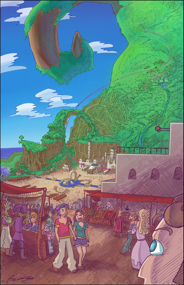 Spiral Island Concept by Ziggyfin