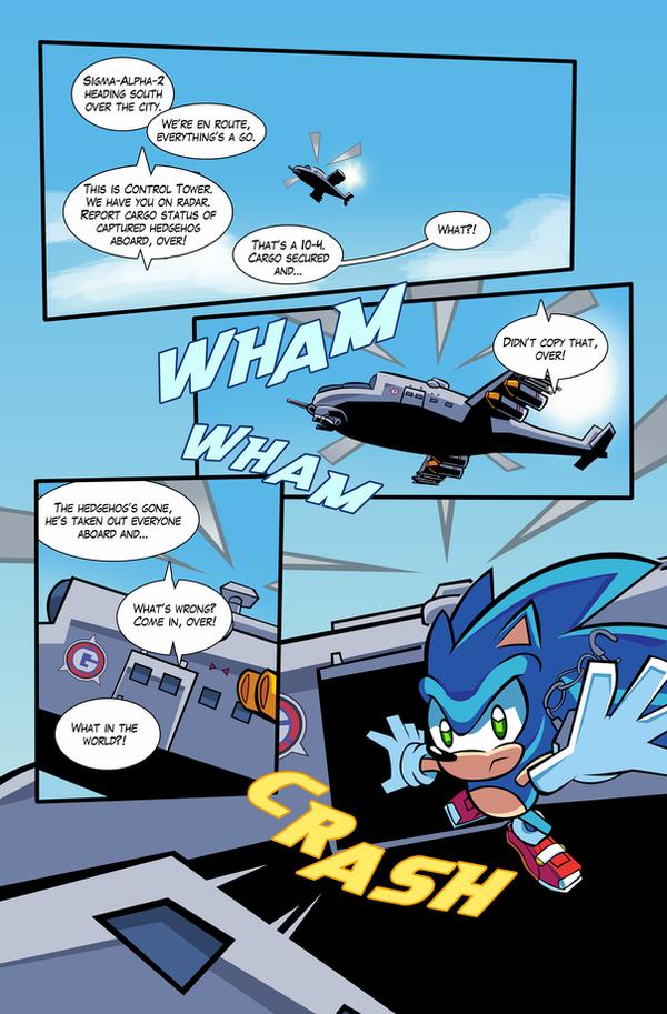 SA2 COMIC Issue 1 Page 1 by Ziggyfin