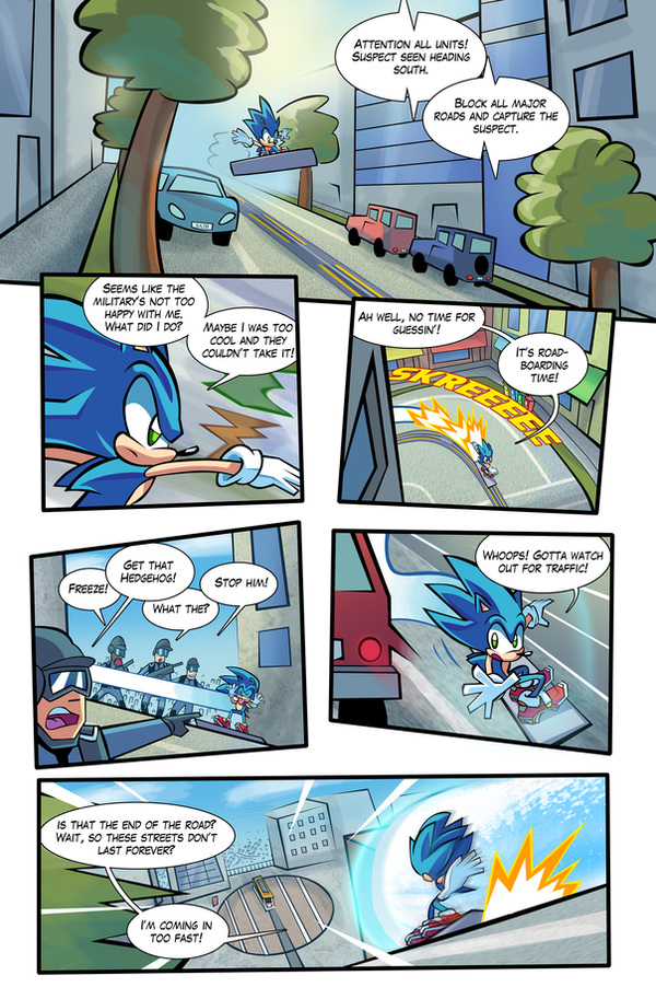 SA2 COMIC Issue 1 Page 4 by Ziggyfin