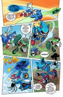 Sonic vs Scourge vs Metal (Re-Color) by Ziggyfin