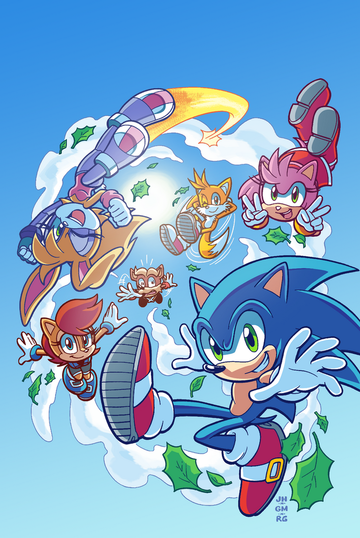 Sonic #279 Variant (Summer Re-Color) by Ziggyfin on DeviantArt