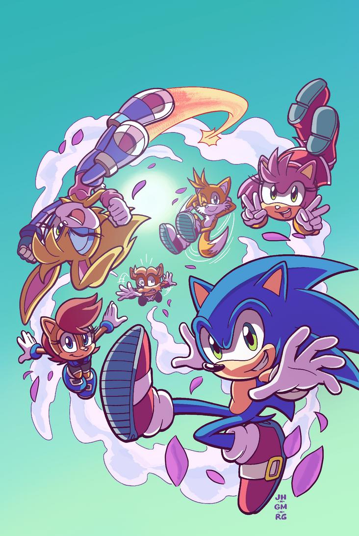 Sonic #279 Variant (Spring Re-Color) by Ziggyfin on DeviantArt