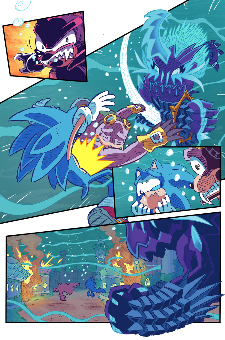 Sonic the Hedgehog #263 Page 2 Re-Drawn/Colored by Ziggyfin