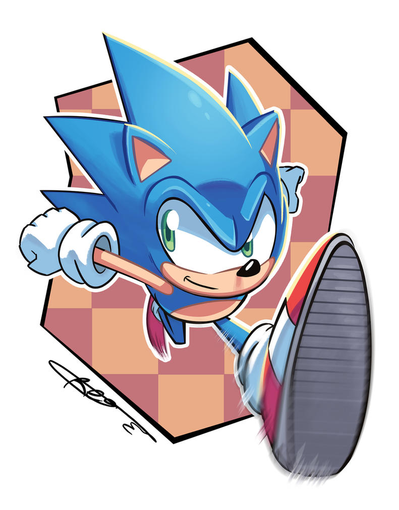 Sonic the Hedgehog by Ziggyfin