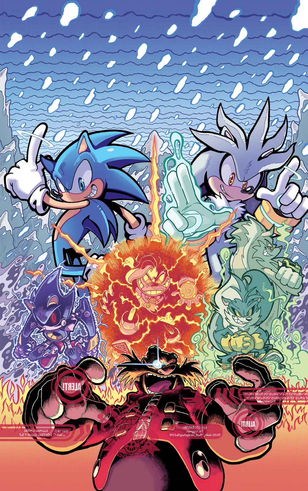 Idw Sonic The Hedgehog 14 Cover B Colours By Ziggyfin On Deviantart