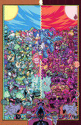 IDW Sonic the Hedgehog #24 Cover A Colours