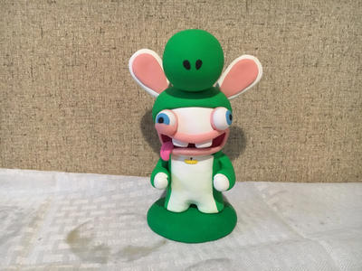 Rabbid Yoshi by PomChiPrincess