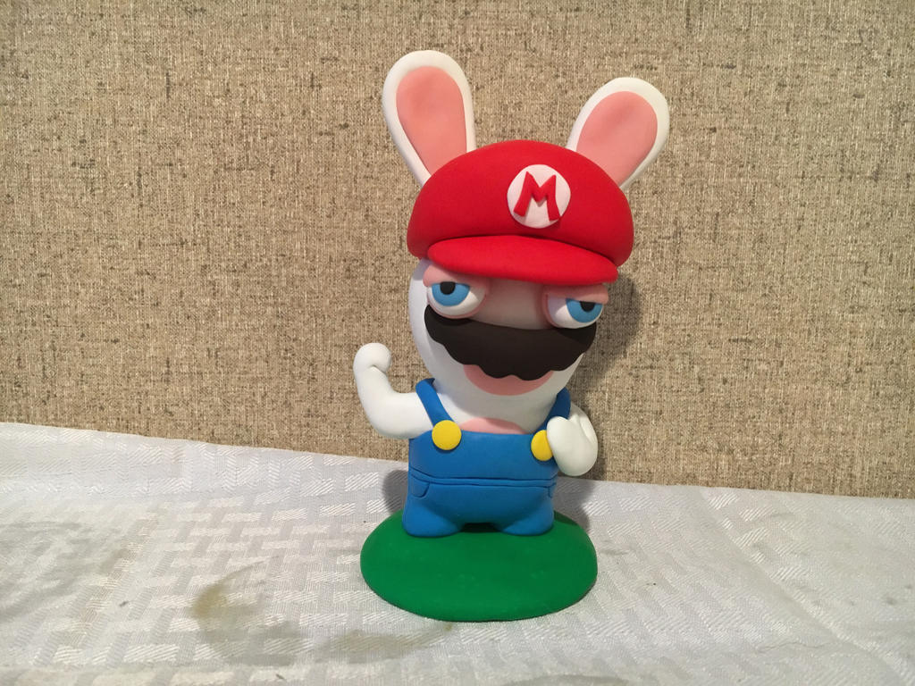 Rabbid Mario by PomChiPrincess