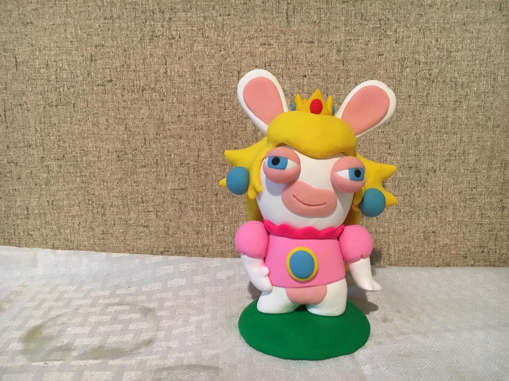 Rabbid Peach by PomChiPrincess