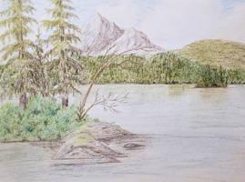 Cliche Mountain Lake