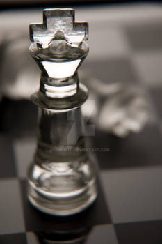Chess King in Glass