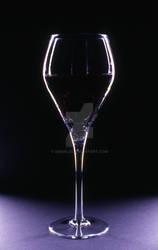 Wine Glass in dramatic light