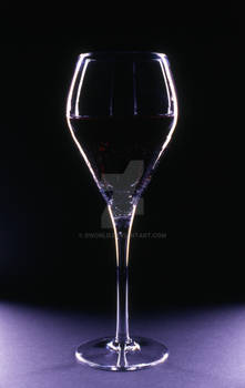 Wine Glass in dramatic light