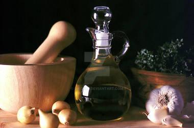 Olive Oil Decanter Still Life
