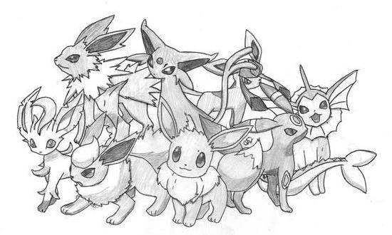 eeveelution coloring pages - photo #36