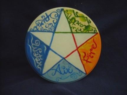 Altar pentagram tile