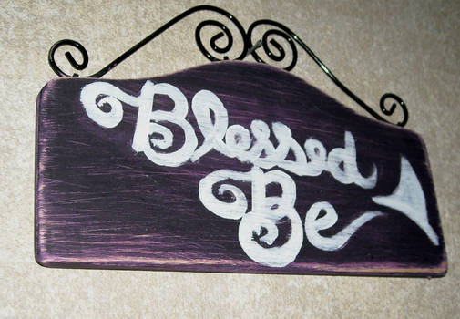 Blessed Be sign