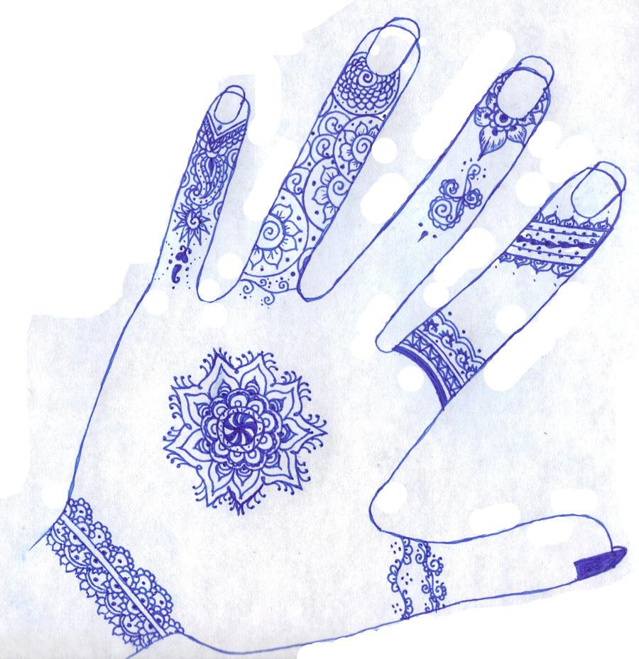 Henna hand by