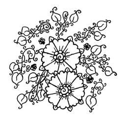 Flora henna design