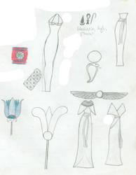 Egyptian fashion collage