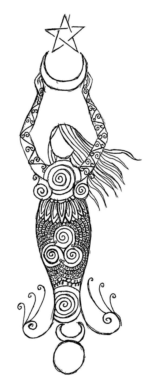 Wiccan henna design