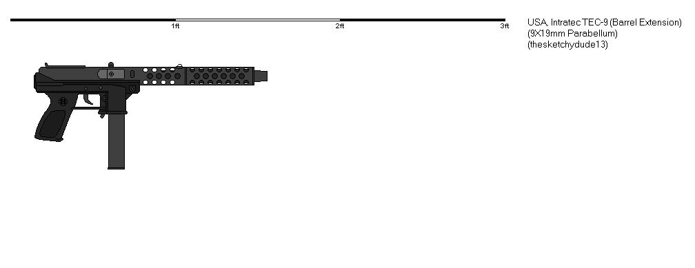 TEC-9 Extended Barrel (Gunbucket) by thesketchydude13 on ...